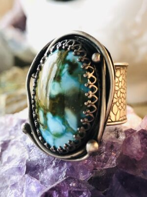 Kingman Polychrome Turquoise Ring