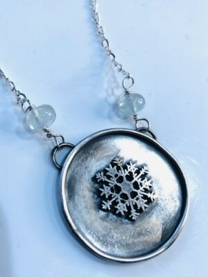 Shadow Box Snowflake Necklace