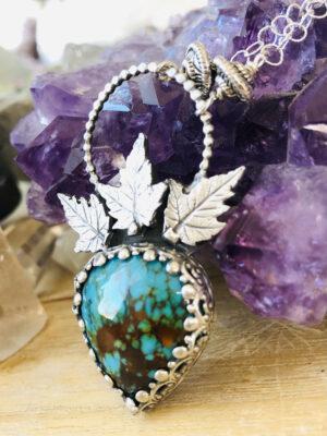 Rising Phoenix Kingman Turquoise Necklace